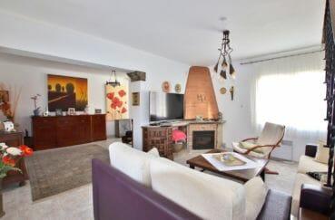 vente immobilier rosas espagne: villa 336 m² avec amarre, salon avec belle cheminée