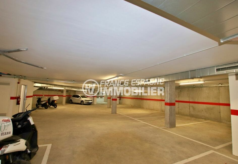 roses espagne: appartement de 72, 83 ou 93 m², parking privé au sous-sol, ascenseur