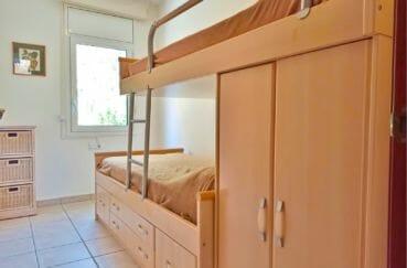 achat maison sur la costa brava, villa 5 pièces 176 m², 4° chambre à coucher, lits superposés