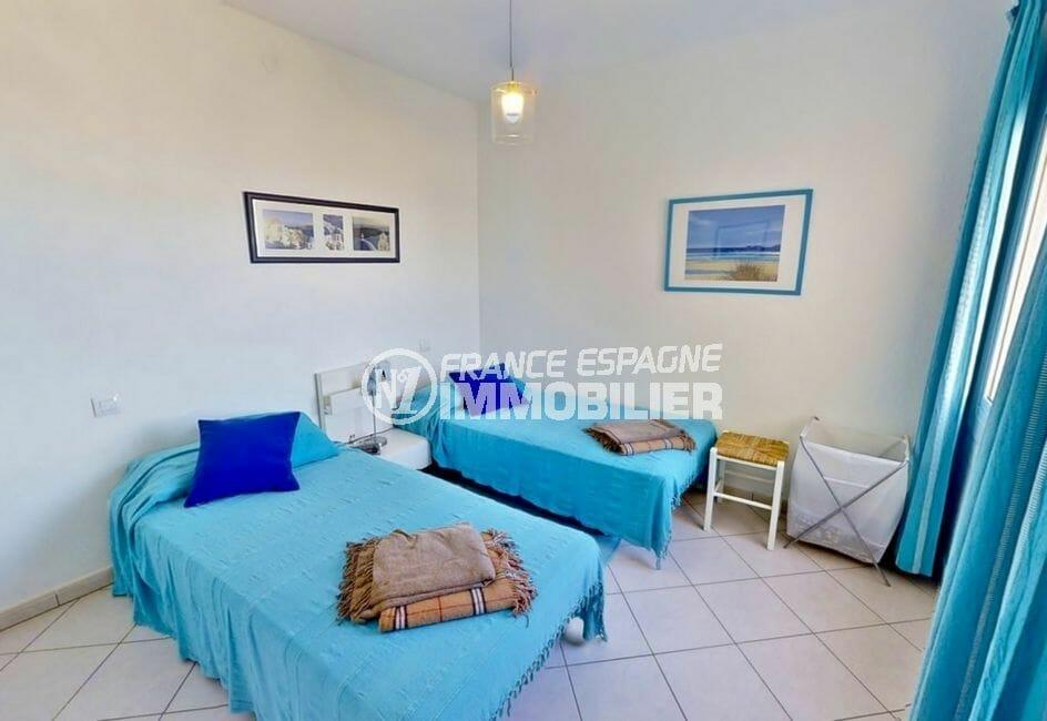 immo costa brava: villa 4 pièces 119 m², chambre à coucher, 2 lits simples