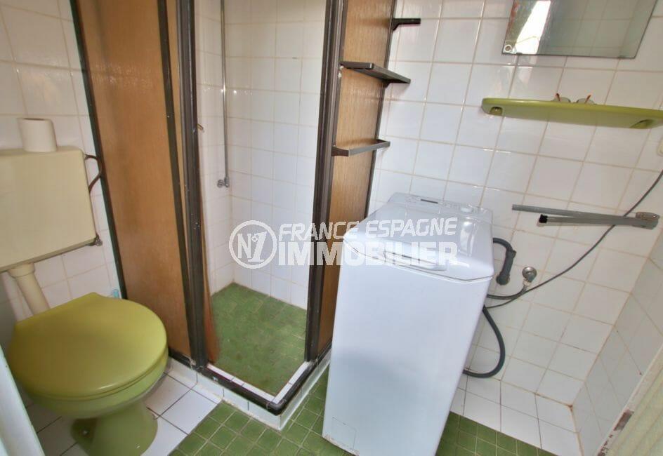 agence immobilière costa brava: villa 2 chambres 84 m² solarium, 2° salle d'eau avec douche et wc