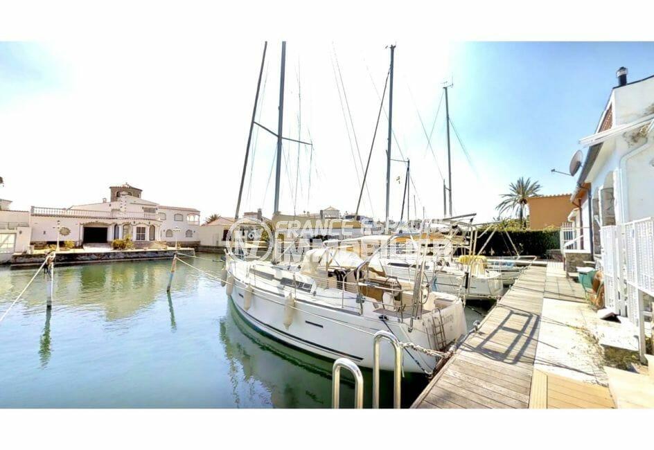 vente immobilière costa brava: villa r5 pièces 122 m², emplacement amarre 14,5 m