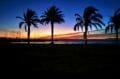 superbe coucher de soleil sur la plage de roses