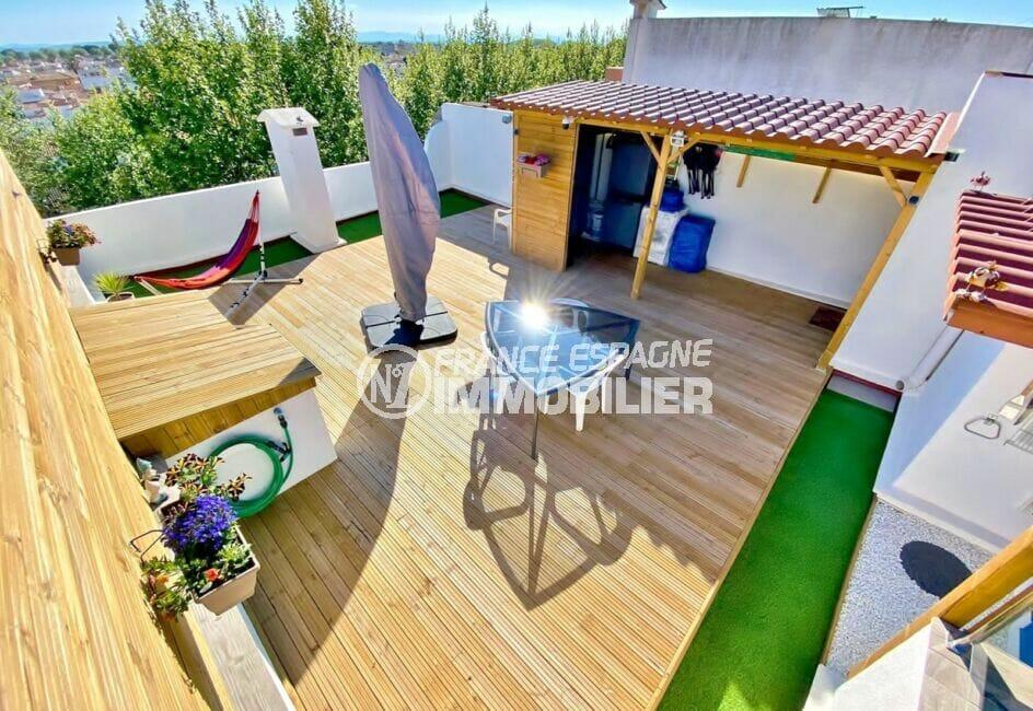appartement à vendre empuriabrava, 86 m² 2 chambres avec terrasse solarium, exposition sud, plage à 1000 m