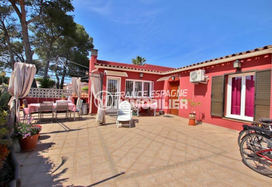 santa margarita espagne: villa 109 m² avec terrasse solarium, proche plage et commerces