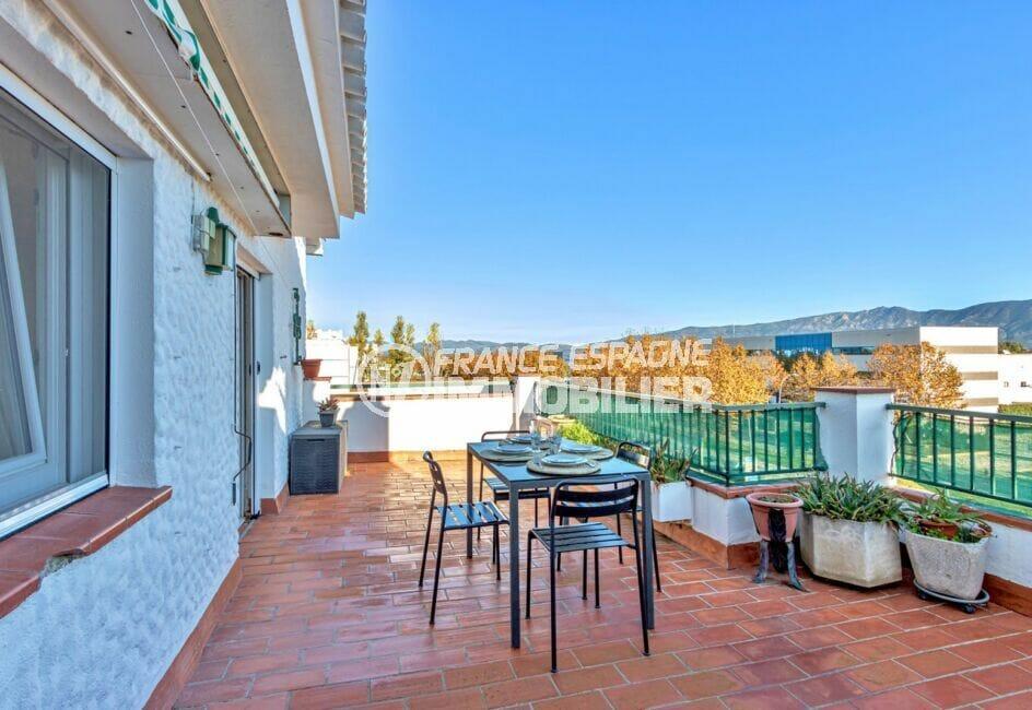 appartement empuria brava, 3 pièces 57 m², atico, terrasse de 28 m²