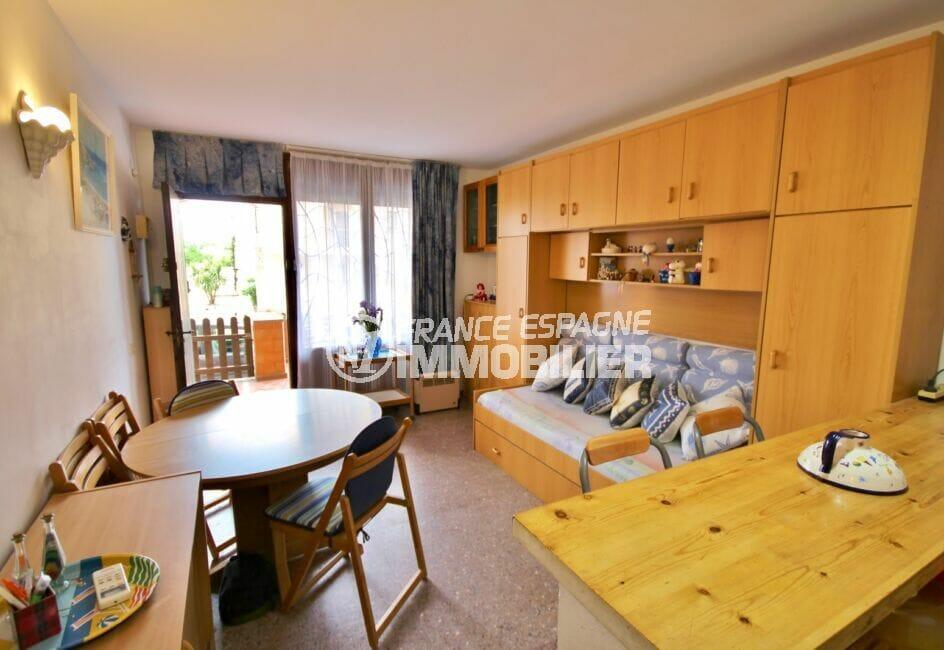 appartement a vendre costa brava,  2 pièces 41 m², salon / séjour avec accès terrasse