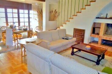 empuria immo: villa 200 m² avec 4 chambres, salon, salle à manger, cheminée