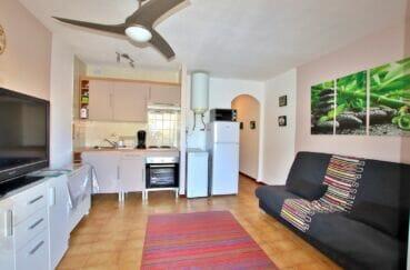 appartement a vendre a rosas, 2 pièces 40 m², séjour avec coin cuisine