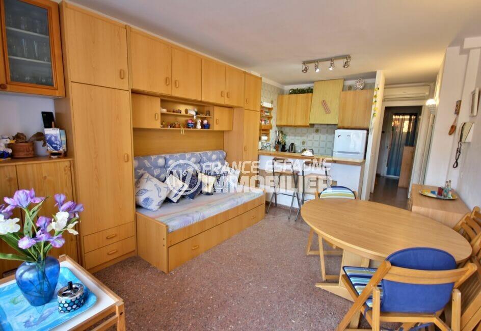 acheter appartement costa brava,  2 pièces 41 m², salon / séjour avec cuisine américaine