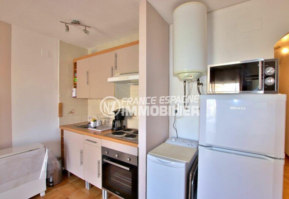 appartement à vendre à rosas espagne, 2 pièces 40 m², cuisine aménagée, plaques, four