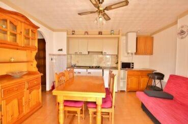 vente appartement empuriabrava, 2 pièces 37 m² avec séjour et son coin cuisine, ventilateur plafond