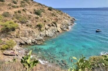 détente au soleil sur un rocher au bord de la mer de roses
