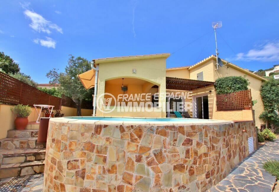 achat maison costa brava, 4 pièces 145 m² avec terrain de 547 m², piscine, garage, parking cour, proche plage