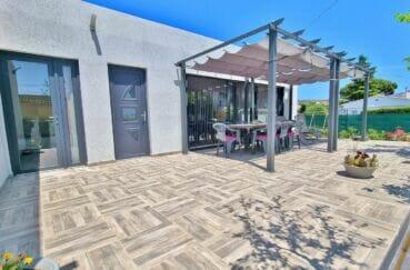 achat maison rosas espagne, villa 4 pièces 131 m², terrasse avec pergola