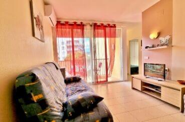 appartement a vendre costa brava, 3 pièces 60 m², salon/séjour donnant sur la terrasse
