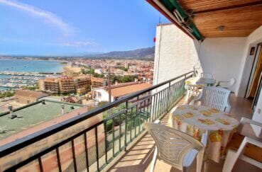 vente appartement rosas vue mer, 3 pièces 62 m², terrasse de 12 m² avec barbecue