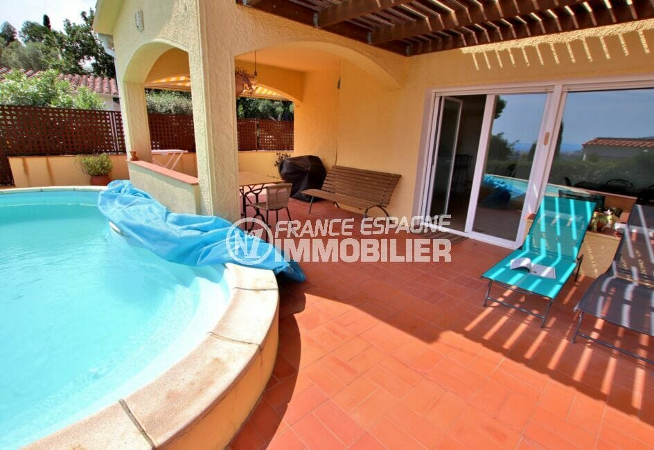 achat maison rosas, 4 pièces 145 m², piscine au chlore, terrasse couverte