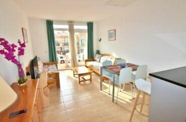 acheter appartement costa brava, 3 pièces 57 m², salon/séjour avec accès sur la terrasse