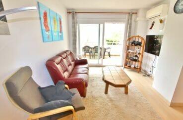 appartements a vendre a rosas, 3 pièces 58 m², saln avec accès direct sur la terrasse