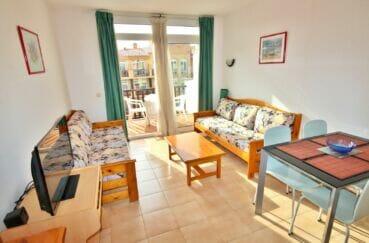 acheter appartement empuriabrava, 3 pièces 57 m², salon/séjour avec coin repas