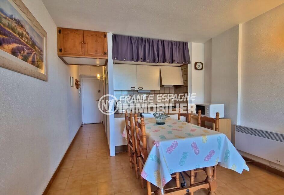 acheter appartement costa brava, 2 pièces 43 m², cuisine équipée de plaques de cuisson et hotte