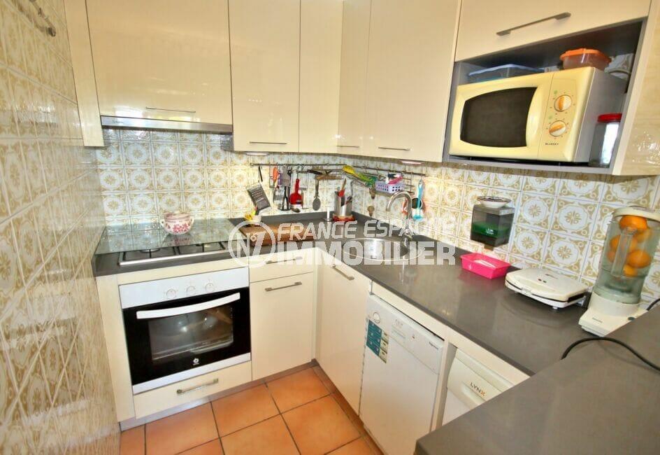 vente empuriabrava: appartement 3 pièces 65 m², cuisine ménagée et équipée