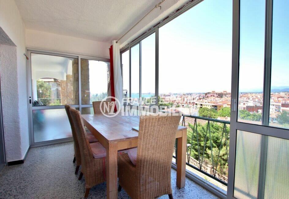 vente immobilière rosas: villa 4 pièces 166 m² avec véranda vue mer et montagnes