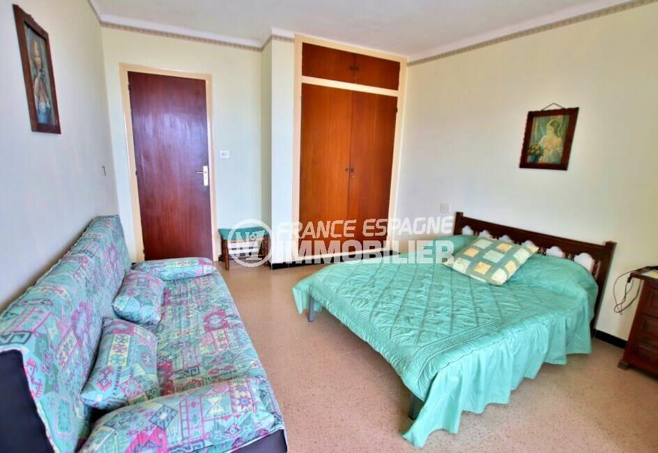 achat appartement rosas, 3 pièces 62 m², chambre à coucher avec armoire encastrée