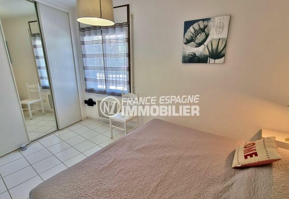 vente appartement costa brava, 2 pièces 46 m², chambre à coucher avec penderie encastrée