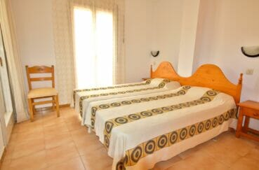 vente immobilière costa brava: appartement 3 pièces 57 m², chambre à coucher, lit double