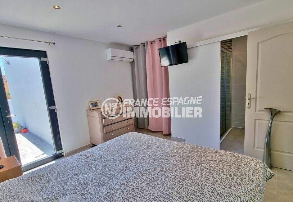 achat maison roses espagne, villa 4 pièces 131 m², chambre à coucher avec salle d'eau
