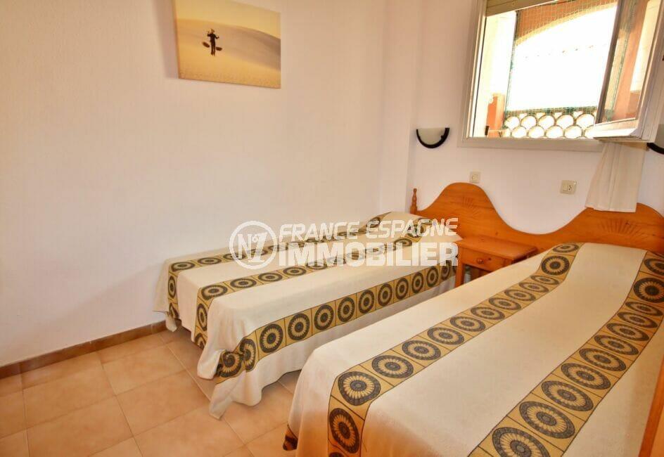 acheter appartement espagne costa brava, 3 pièces 57 m², chambre à coucher, 2 lits simples