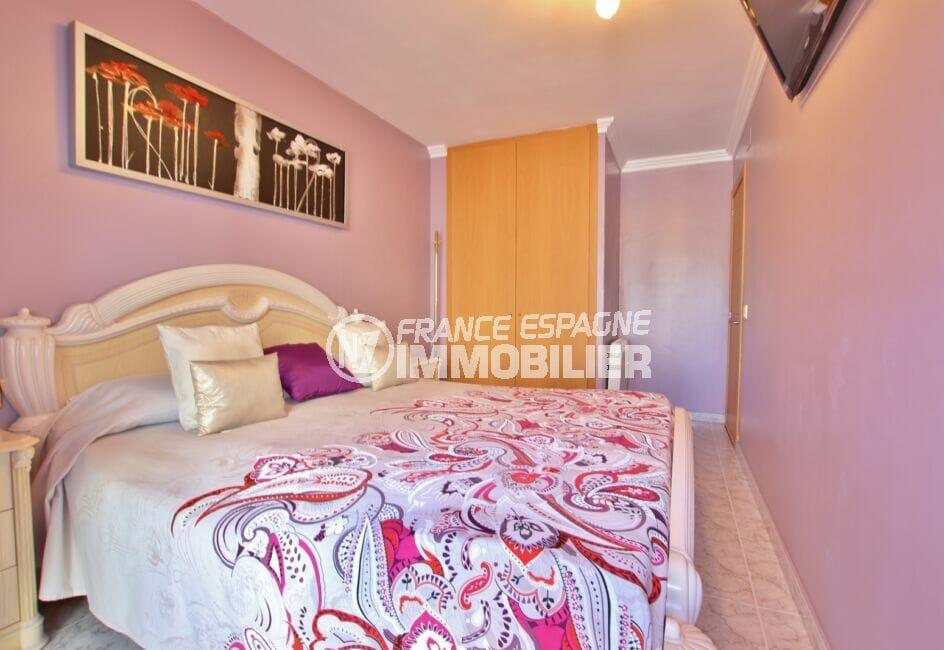 vente appartement rosas espagne,  4 pièces 96 m², chambre à coucher, armoire encastrée