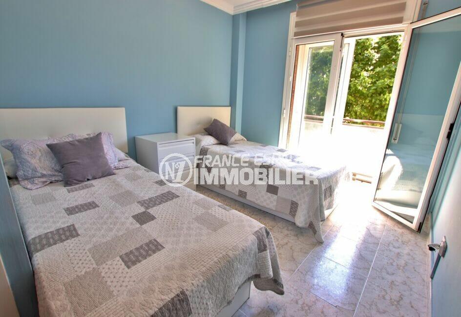 immo roses: appartement 4 pièces 96 m², 2° chambre à coucher, terrasse