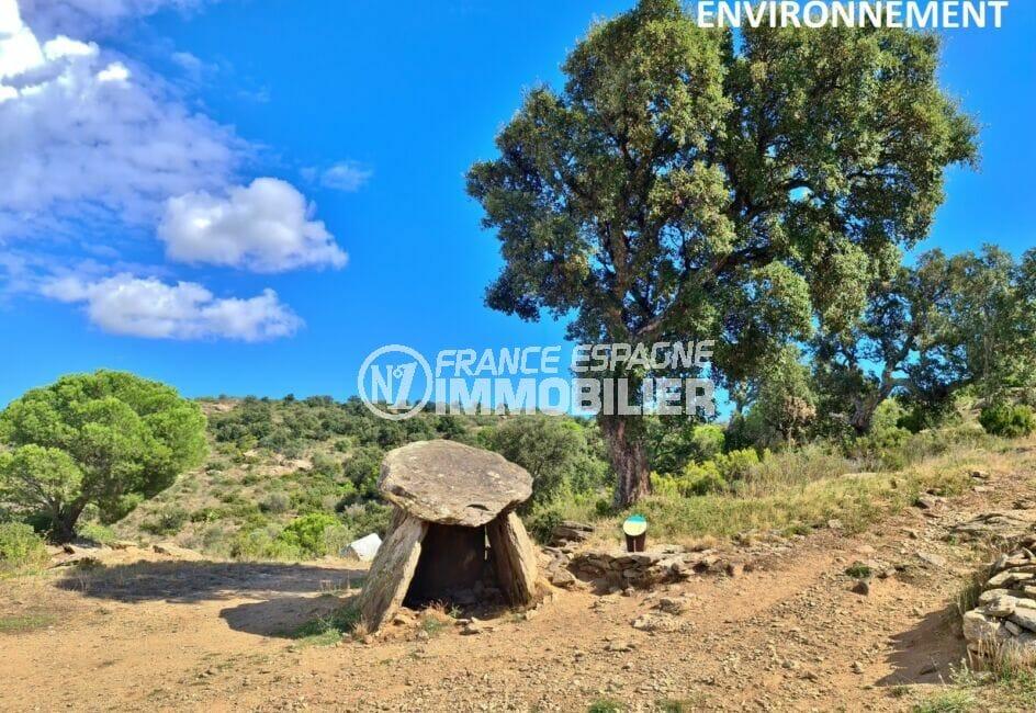 un des nombreux dolmens sur les hauteurs de roses