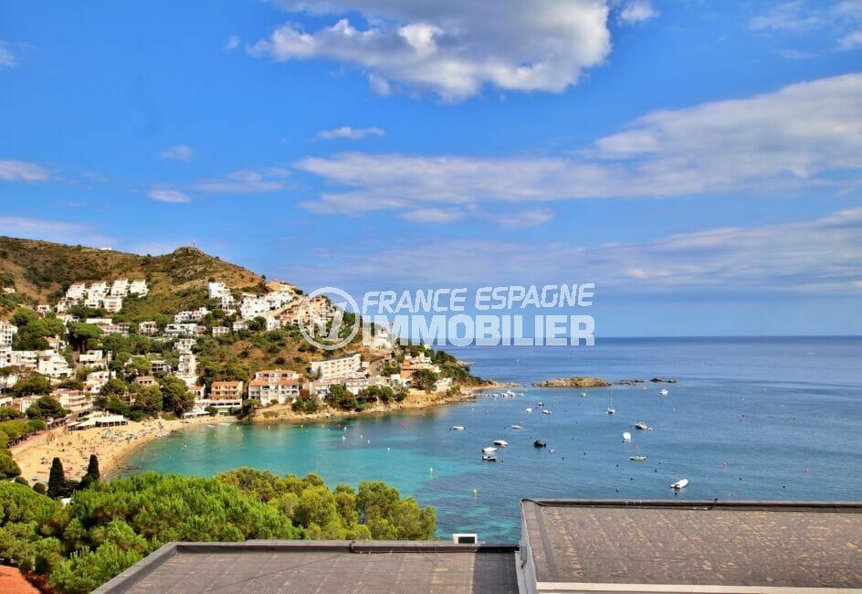 appartement à vendre costa brava vue mer, 3 pièces 44 m² avec terrasse vue mer, parking communautaire, plage à 300 m