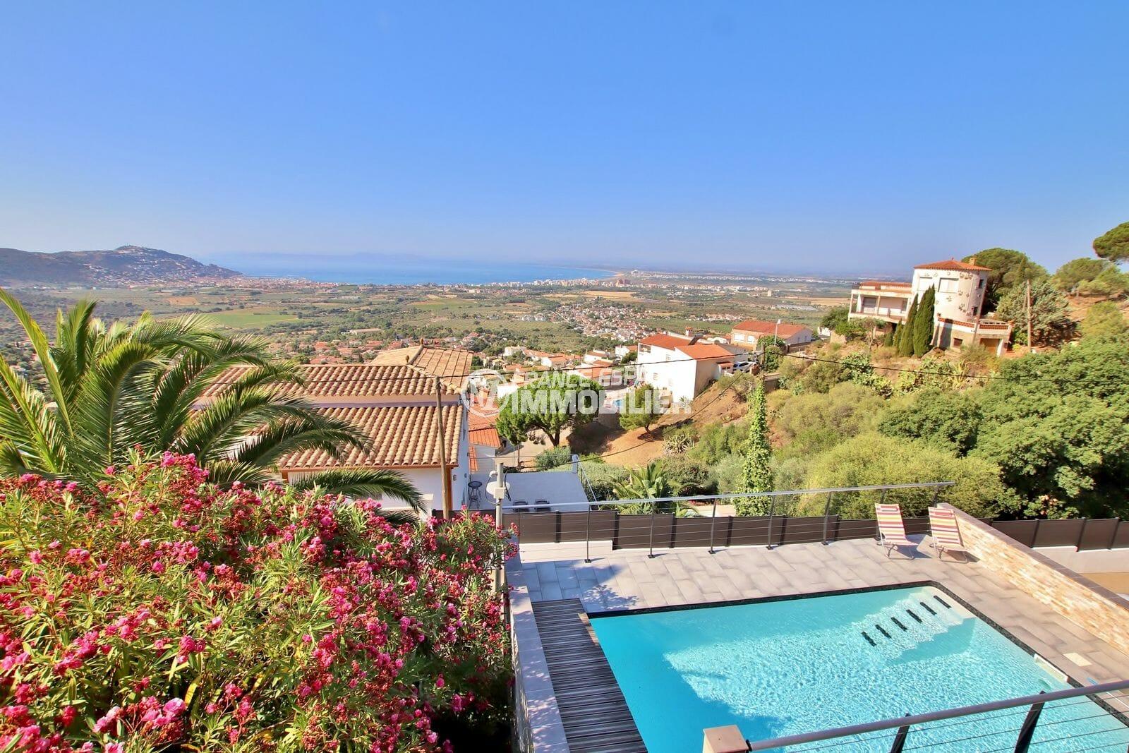 acheter maison costa brava, 6 pièces 250 m² sur terrain de 880 m² avec piscine, exposition sud, vue mer, proche plage