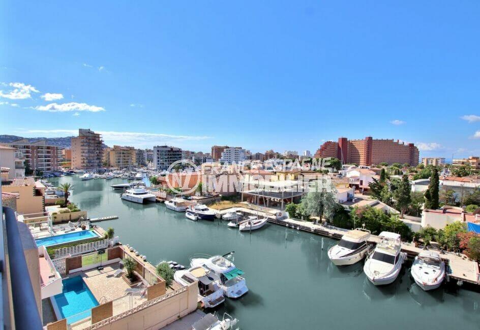 santa margarita: studio 37 m² vue canal, terrasse véranda, exposition sud