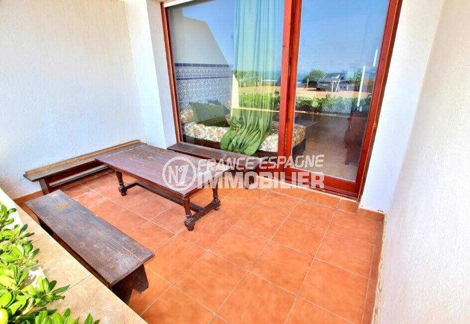 appartement a vendre costa brava, 2 pièces 39 m², balcon avec vue mer, exposition sud