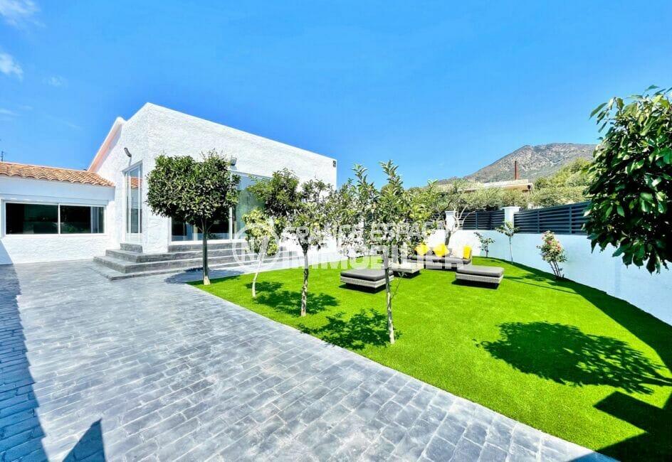 immo roses: villa 105 m² rénovée 3 chambres construite sur terrain de 326 m²