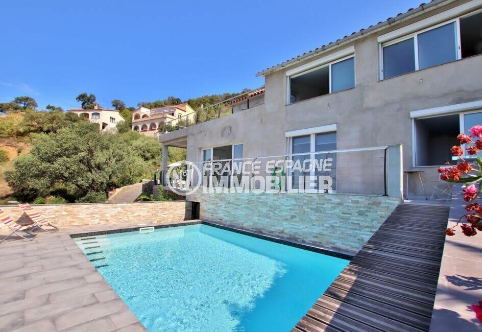 vente immobilière costa brava: villa 250 m² 5 chambres avec piscine, exposition sud