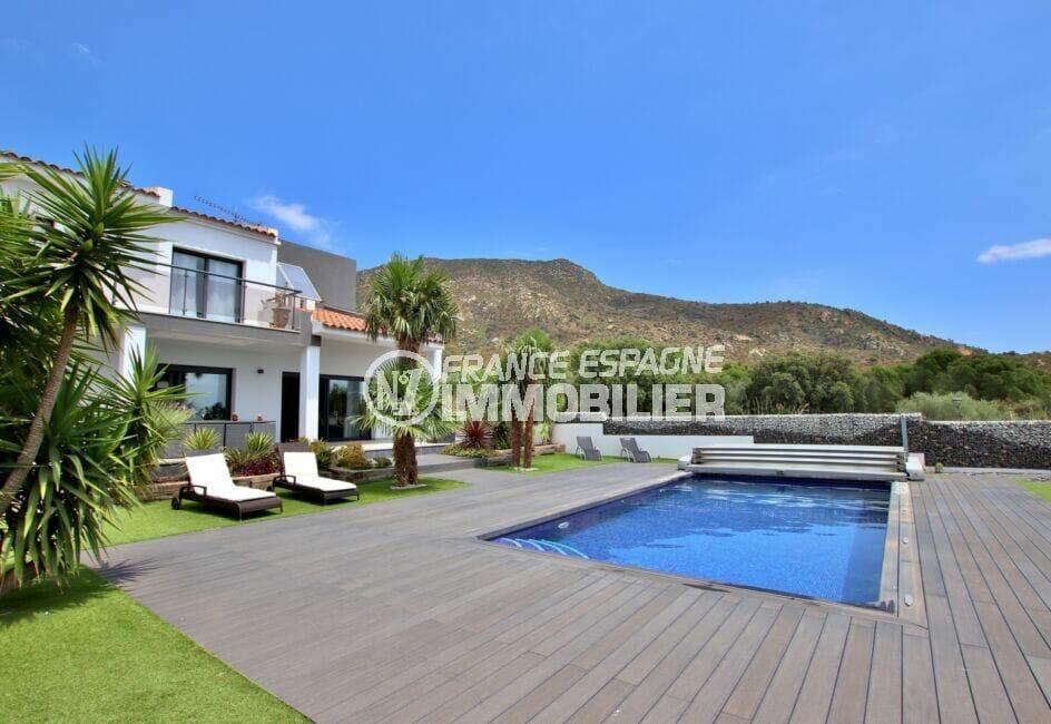achat maison costa brava, villa 215 m² avec piscine de 8 m x 4 m, jardin arboré