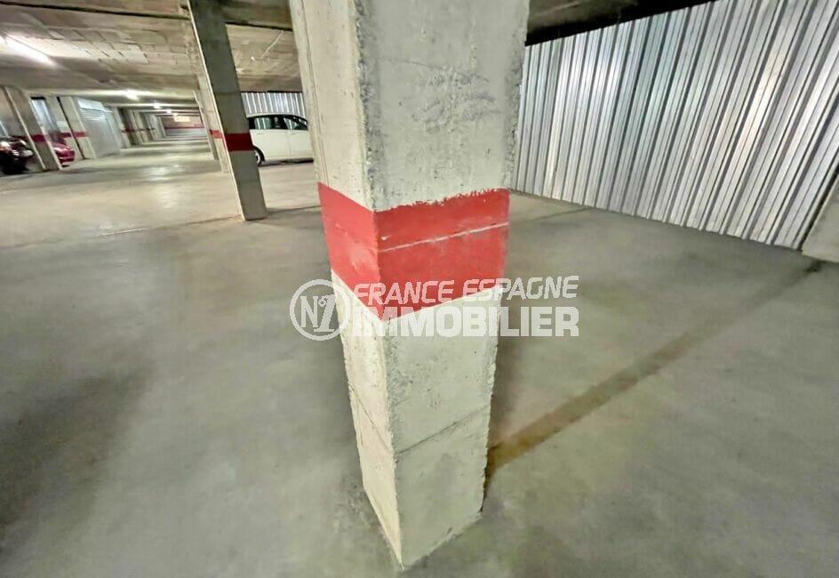 agence empuriabrava: parking-garage 11 m² sous-terrain, à 100m de la plage