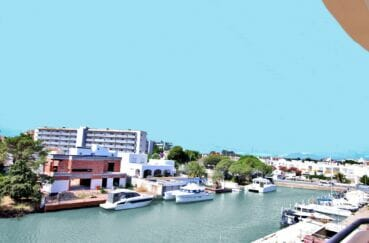 achat appartement costa brava, spacieux 37 m², terrasse avec belle vue sur le canal
