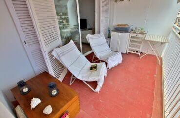 immobilier costa brava vue mer: 3 pièces 44 m² terrasse, chaises longues