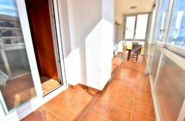 immobilier costa brava vue mer: appartement 2 pièces 55 m², véranda de 11 m², exposition sud