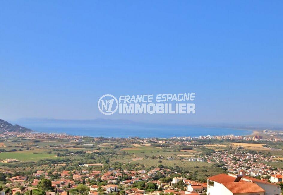 immobilier costa brava vue mer: villa 250 m² 5 chambres, vue imprenable sur la mer