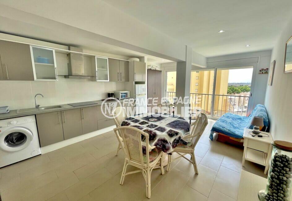 appartement a vendre costa brava, 2 pièces 31 m² vue canal, cuisine ouverte