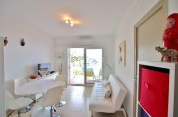 immobilier espagne costa brava vue mer: 3 pièces 44 m² terrasse, salon avec climatisation